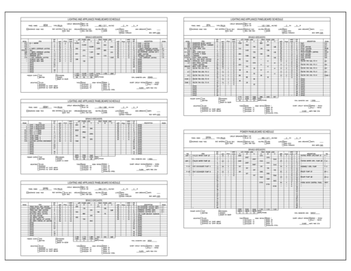 Electrical CAD Schedules Thumbnail
