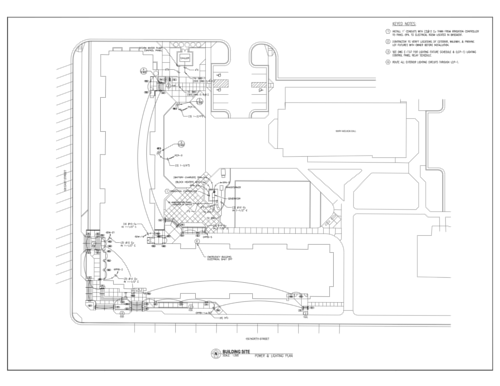 Electrical CAD Site Plan Thumbnail